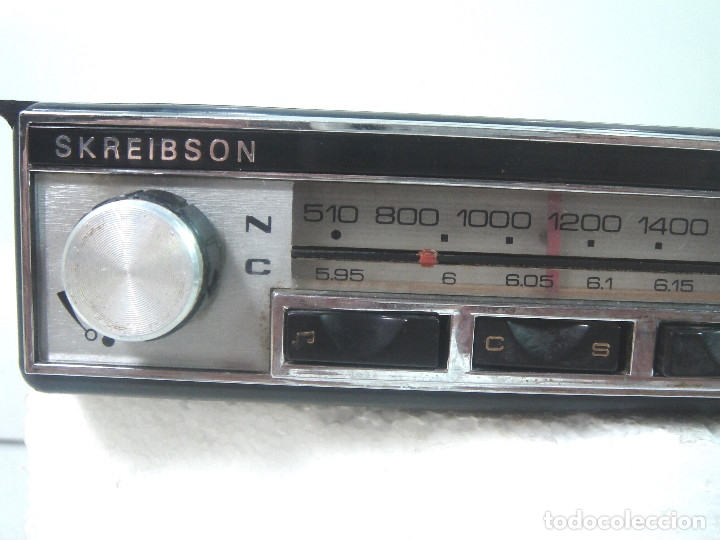 Coches y Motocicletas: AUTO RADIO COCHE CLASICO - SKREIBSON ART-21 - MADE IN SPAIN 1969- AUTORADIO ART21 - Foto 4 - 164080634