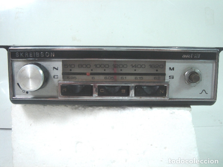 Coches y Motocicletas: AUTO RADIO COCHE CLASICO - SKREIBSON ART-21 - MADE IN SPAIN 1969- AUTORADIO ART21 - Foto 3 - 164080634