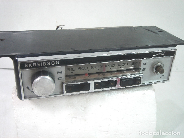 Coches y Motocicletas: AUTO RADIO COCHE CLASICO - SKREIBSON ART-21 - MADE IN SPAIN 1969- AUTORADIO ART21 - Foto 2 - 164080634