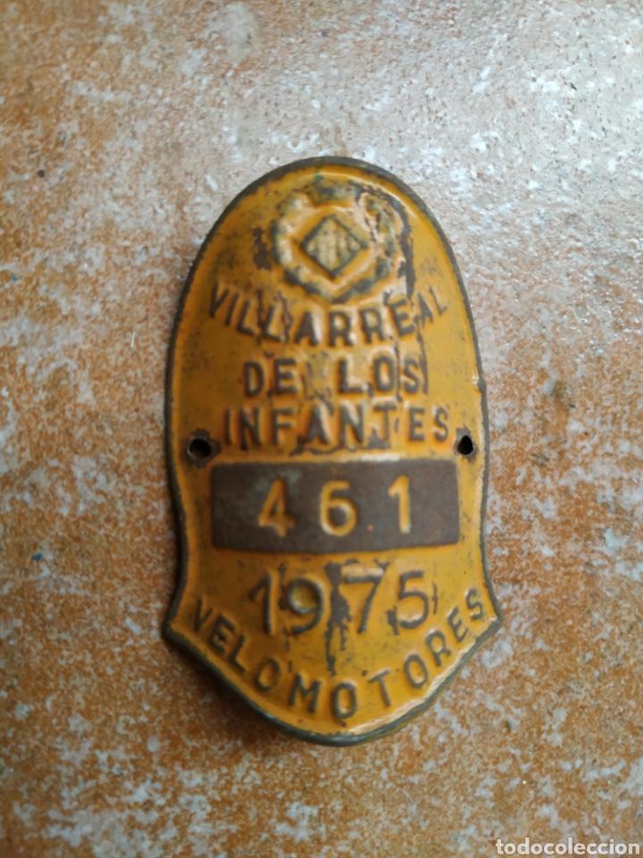MATRÍCULA CHAPA BICICLETAS, VELOMOTORES VILLARREAL DE LOS INFANTES 1975 (Coches y Motocicletas - Repuestos y Piezas (antiguos y clásicos))