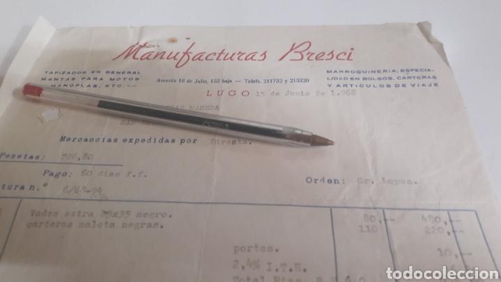 1968 LUGOMANUFACTURAS BRESCI TAPIZADOS.MANTAS MOTOS MANOPLAS (Coches y Motocicletas - Repuestos y Piezas (antiguos y clásicos))