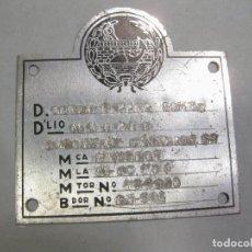 Coches y Motocicletas: PLACA DE INDUSTRIA. PEUGEOT. MATRÍCULA DE MADRID.. Lote 166638130