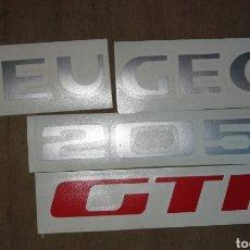 Coches y Motocicletas: PEUGEOT 205 GTI LOGOS ORIGINES PORTÓN TRASERO. Lote 167589769