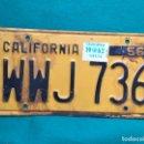 Coches y Motocicletas: CALIFORNIA 1956 , ANTIGUA Y ORIGINAL PLACA DE MATRÍCULA , LICENSE PLATE USA VINTAGE. Lote 168593112