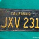 Coches y Motocicletas: CALIFORNIA 1963 , ANTIGUA Y ORIGINAL PLACA DE MATRÍCULA , LICENSE PLATE USA VINTAGE. Lote 168593240