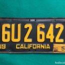 Coches y Motocicletas: CALIFORNIA 1952 , ANTIGUA Y ORIGINAL PLACA DE MATRÍCULA , LICENSE PLATE USA VINTAGE. Lote 168593708