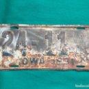 Coches y Motocicletas: IOWA 1931 , ANTIGUA Y ORIGINAL PLACA DE MATRÍCULA , LICENSE PLATE USA VINTAGE 24-11 . Lote 168595972