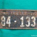 Coches y Motocicletas: IOWA 1954 TRAILER , ANTIGUA Y ORIGINAL PLACA DE MATRÍCULA , LICENSE PLATE USA VINTAGE . Lote 168596900