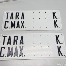 Coches y Motocicletas: LOTE 2 PLACA TARA Y CARGA MAX. PARA CAMIÓN PEGASO BARREIROS AVÍA EBRO CHAPA. Lote 169746682