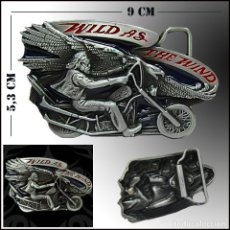 Coches y Motocicletas: HEBILLA MOTORISTA. BIKER. Lote 173824774