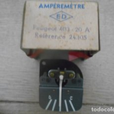 Coches y Motocicletas: AMPERÍMETRO ED 24.105 PEUGEOT 403 - 20 A. Lote 174162769
