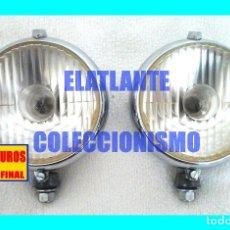 Coches y Motocicletas: KINBY LICENCIA CARELLO - JUEGO DE FAROS DE LARGO ALCANCE - AÑOS 60 - SEAT 1400 / 600 / PEGASO Z102. Lote 174533348