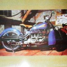 Coches y Motocicletas: CARTEL PUBLICITARIO DE MOTOS INDIAN. EN CHAPA METÁLICA.. Lote 175823950