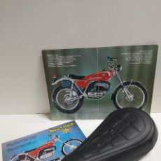 Coches y Motocicletas: ASIENTO BULTACO SHERPA MODELO MANUEL SOLER NUMERACIONES: 156,158, 159, 182,183,185,238. Lote 177044189