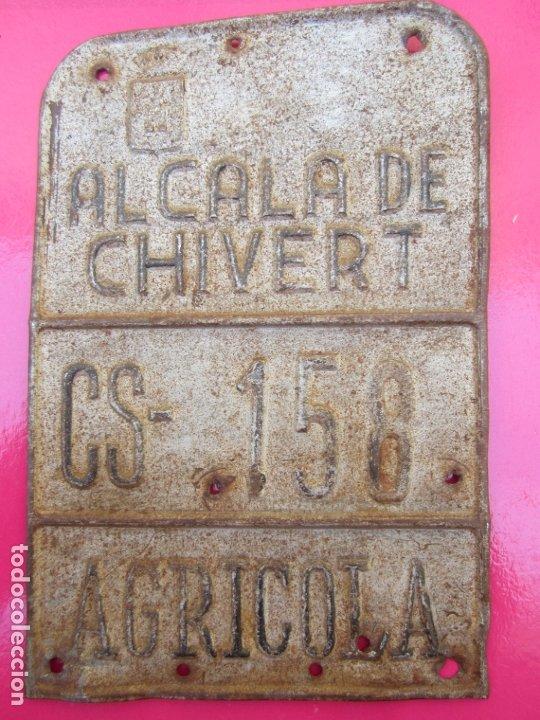 CHAPA DE ARBITRIO , METALICA , ALCALA DE CHIVERT, AGRICOLA (Coches y Motocicletas - Repuestos y Piezas (antiguos y clásicos))