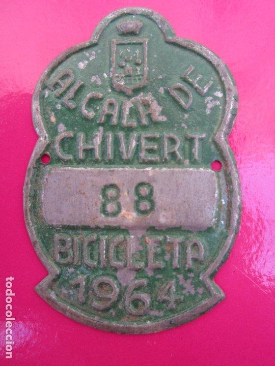 CHAPA DE ARBITRIO , METALICA , ALCALA DE CHIVERT, BICICLETA 1964 (Coches y Motocicletas - Repuestos y Piezas (antiguos y clásicos))