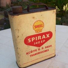 Coches y Motocicletas: LATA DE ACEITE LUBRICANTE COCHES SHELL SPIRAX AÑOS 50 . Lote 178811828