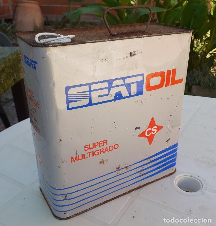 LATA DE ACEITE LUBRICANTE COCHES SEAT OIL MULTIGRADO (Coches y Motocicletas - Repuestos y Piezas (antiguos y clásicos))