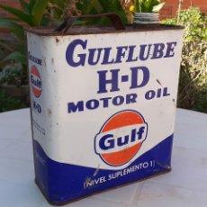 Coches y Motocicletas: LATA DE ACEITE LUBRICANTE COCHES GULFLUBE HD MOTOR OIL GULF. Lote 178812197