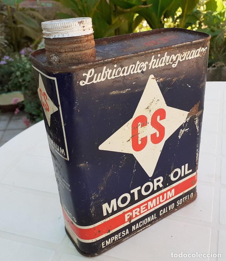LATA DE ACEITE LUBRICANTE CS MOTOR OIL PREMIUM (Coches y Motocicletas - Repuestos y Piezas (antiguos y clásicos))