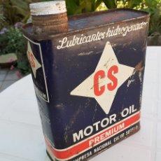 Coches y Motocicletas: LATA DE ACEITE LUBRICANTE CS MOTOR OIL PREMIUM. Lote 178828252