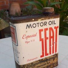 Coches y Motocicletas: LATA DE ACEITE LUBRICANTE SEAT MOTOR OIL . Lote 178828375