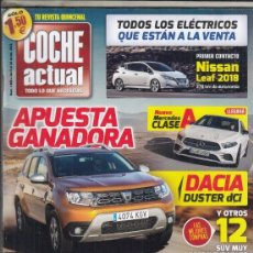 Coches y Motocicletas: REVISTA COCHE ACTUAL Nº 1465 AÑO 2018. PRU: DACIA DUSTER DCI 109 CV 4X2 EDC. COMP: VW GOLF GTE 1.4.. Lote 179329641