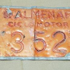 Coches y Motocicletas: MATRÍCULA CICLOMOTOR DE PUEBLO DE ALMENAR. Lote 180079283
