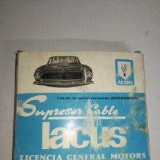 Coches y Motocicletas: CONJUNTO IGNICION( ENCENDIDO) ANTIPARASITARIO LACUS PARA RENAULT 12. Lote 182484635