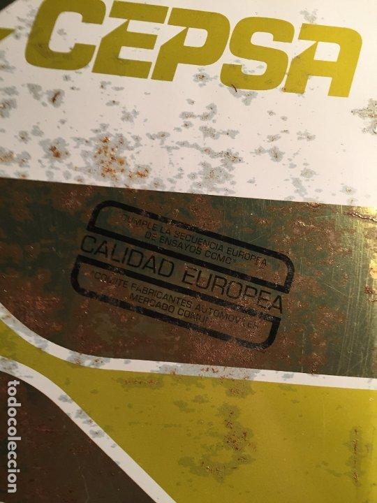 Coches y Motocicletas: Antigua lata de aceite marca Cepsa multigrado años 60-70 - Foto 3 - 183724682