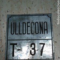 Coches y Motocicletas: CHAPA DE ARBITRIO , TRANSPORTE ULLDECONA , MONTSIA , TARRAGONA. Lote 184176560
