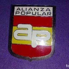 Coches y Motocicletas: CHAPA ALIANZA POPULAR , PARA COCHE.. Lote 232601820