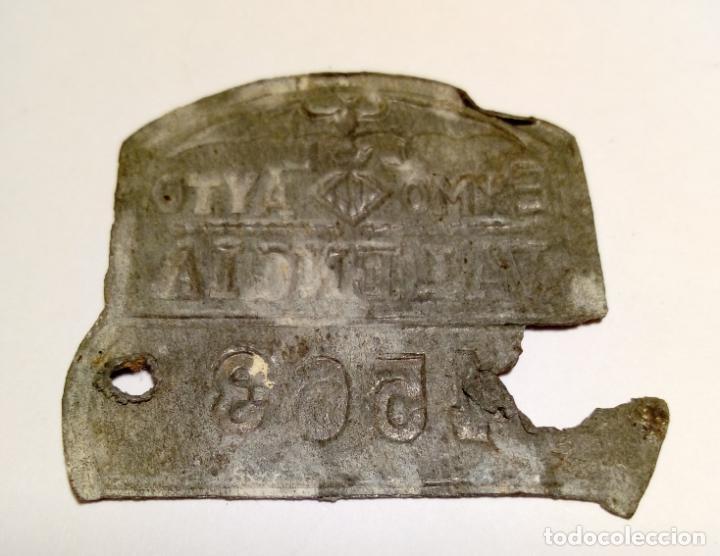Coches y Motocicletas: antigua placa de matricula de bicicleta o carro - exmo ayto valencia - Foto 2 - 184598890