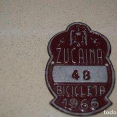 Coches y Motocicletas: PLACA DE BICICLETA DE ZUCAINA 1966. Lote 184888201