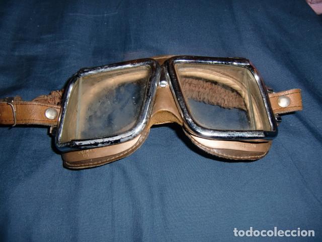 Coches y Motocicletas: antiguas gafas moto marca climax hechas en España años 50 - Foto 7 - 192357166