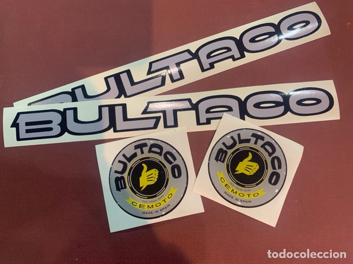 BULTACO PEGATINAS CLASICSS (Coches y Motocicletas - Repuestos y Piezas (antiguos y clásicos))