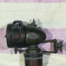 Coches y Motocicletas: FARO LAMPARA DE CARBURO DE LATON O COBRE PARA BICI O MOTO. Lote 194300496