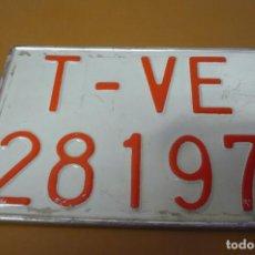 Coches y Motocicletas: MATRICULA TRACTOR. Lote 194490626