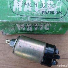 Coches y Motocicletas: TALBOT·SIMCA-SOLENOIDE ARRANQUE AUTOMATICO-TALBOT·SIMCA 1200 MODERNO(REC.NUEVO). Lote 194755608