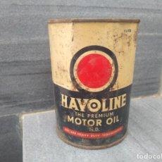 Coches y Motocicletas: ANTIGUA LATA DE ACEITE HAVOLINE MOTOR OIL. Lote 194756677