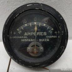 Coches y Motocicletas: HISPANO-SUIZA: AMPERÍMETRO DE TABLERO ORIGINAL.AMPERES.. Lote 195038285