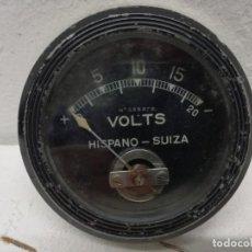 Coches y Motocicletas: HISPANO-SUIZA: VOLTIMETRO DE TABLERO ORIGINAL. VOLTS.. Lote 195038430