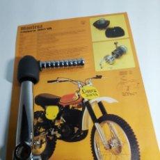 Coches y Motocicletas: MONTESA CAPPRA 125, 250, 360 PEDAL DE ARRANQUE CROMADO, CON GOMA PROTECTORA EN LA ROTULA.. Lote 195435267