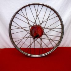 Coches y Motocicletas: RUEDA DELANTERA ORIGINAL DE GUZZI HISPANIA 49 65 CC. Lote 198493072