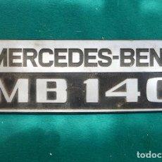 Coches y Motocicletas: LOGOTIPO ORIGINAL MERCEDES-BENZ MB 140... Lote 200762152