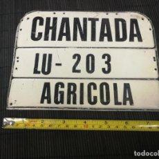 Coches y Motocicletas: CHANTADA LUGO GALICIA - MATRICULA DE CARRO AGRICOLA CON EL NUMERO 203. Lote 203400572