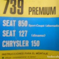 """Coches y Motocicletas: CORREA ALTERNADOR SEAT 850 SPORT COUPE SEAT 127 ALTERNADOR """" NUEVA """". Lote 205013862"""