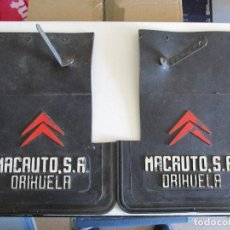 Coches y Motocicletas: JUEGO FALDILLA SALVABARROS COCHE CLASICO CITROEN CON PUBLICIDAD. Lote 205047830