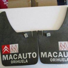 Coches y Motocicletas: JUEGO FALDILLA SALVABARROS COCHE CLASICO CITROEN CON PUBLICIDAD. Lote 205048190