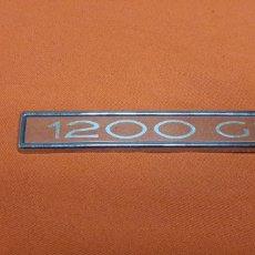Coches y Motocicletas: PLACA EMBLEMA TRASERO PARA COCHE 1200 GL SEAT O SIMILAR. Lote 212015018